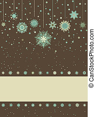 Christmas background with retro pattern. EPS 8