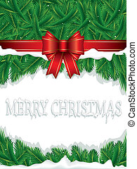 Christmas background with ribbon an