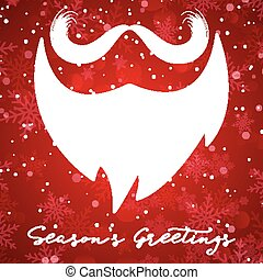 Christmas background with santa beard