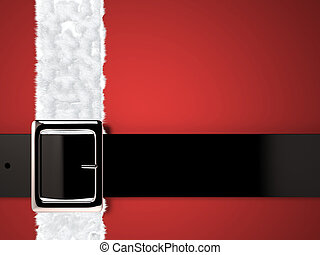 christmas background with santa claus belt and silver buckle