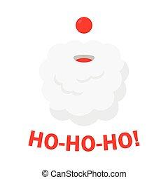 Christmas background with Santa Claus. Ho Ho Ho.