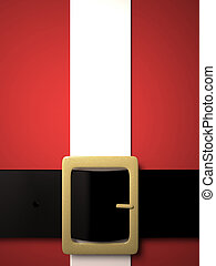 christmas background with santa claus belt and golden buckle
