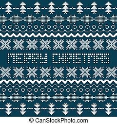 Christmas background with Scandinavian seamless pattern.