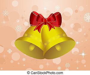 Christmas background with set bells