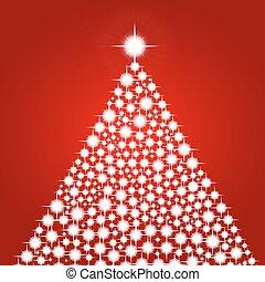 Christmas background with shiny christmas tree