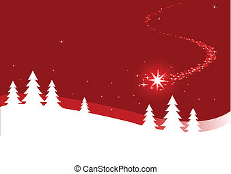 Christmas background  with shutting