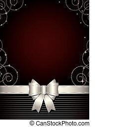 Christmas background with silver b - Elegant design...