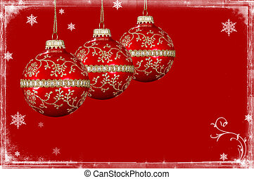Christmas Background With Snow Border