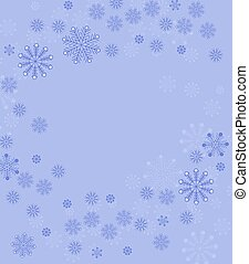 Christmas background with snow
