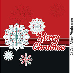 Christmas background with snowflake.