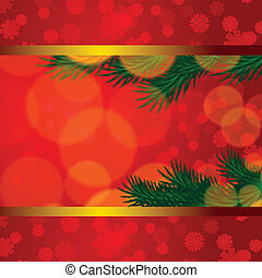 Christmas background with snowflake fir tree
