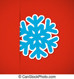 Christmas background with snowflake