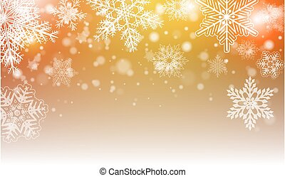 Christmas background with snowflakes and lights