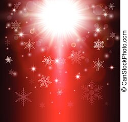 Christmas background with snowflakes and lights, vector...