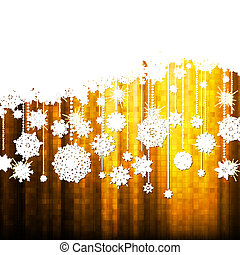 Christmas background with snowflakes. EPS10