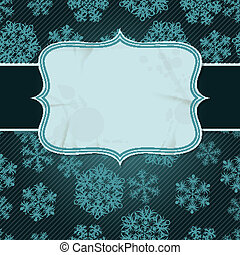 Christmas background with snowflakes in retro style.