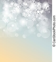 Christmas background with snowflakes, place for text