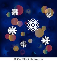 Christmas background with snowflakes [].eps