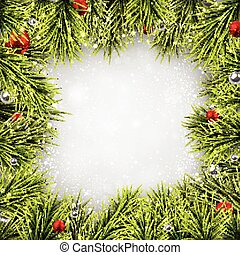 Christmas background with spruce branches. - Winter ...