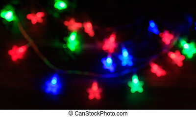 Christmas background with star lights