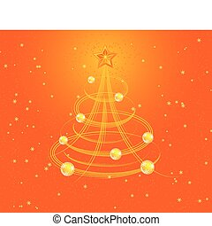 Christmas background with stylized tree, vector