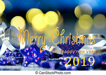 Christmas background with text Merry Christmas and happy new...