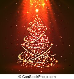 Christmas background with tree art.