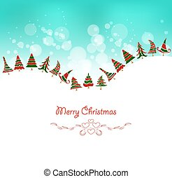 christmas background with trees