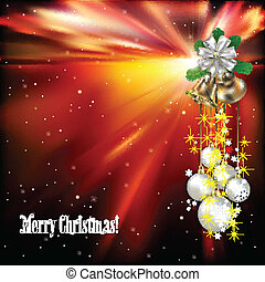 Christmas background with white decorations
