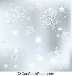 Christmas background with white sn