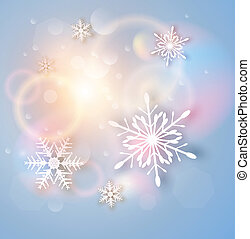 Christmas Background with white snowflakes, abstract vector...