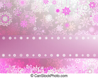 Christmas background with white snowflakes. EPS 8 -...