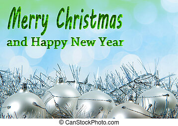 Christmas Background with Writing Merry Christmas and Happy ...