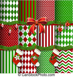 Christmas backgrounds and elements - Big collection of...