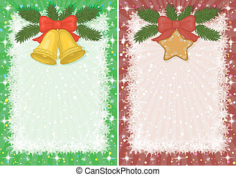Christmas backgrounds with star and bells