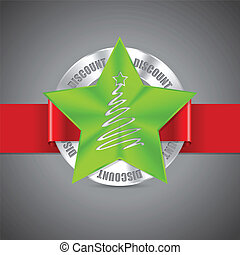 Christmas badge design