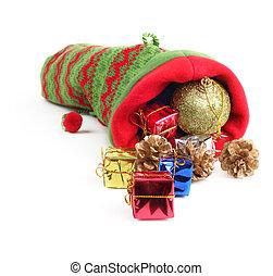 Christmas bag with gifts