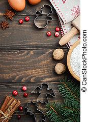 Christmas baking ingredients.