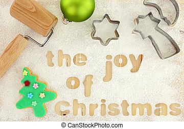 Christmas baking preparation background