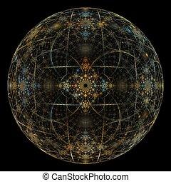 Christmas Ball Abstract Fractal