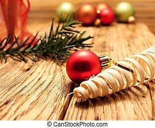 Christmas ball and glass