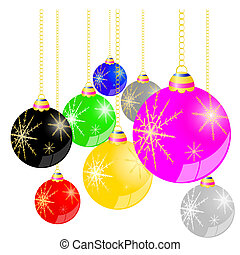 christmas ball background vector illustration