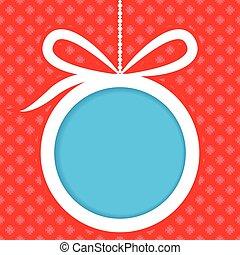 Christmas ball banner design