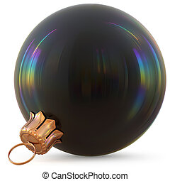 Christmas ball black New Year's Eve decoration bauble classic
