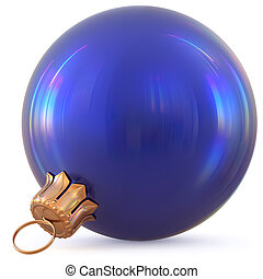 Christmas ball blue New Year's Eve decoration bauble classic