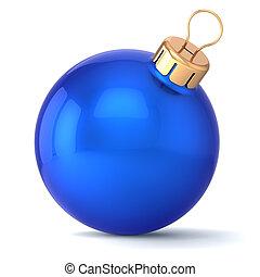 Christmas ball blue New Years Eve