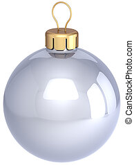 Christmas ball colorless classic