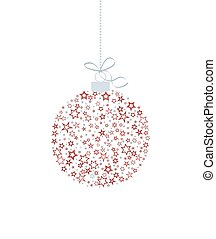 Christmas ball decoration - Vector illustration of a...
