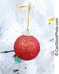 christmas ball decoration on the Christmas tree