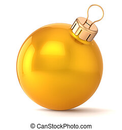 Christmas ball gold New Years Eve